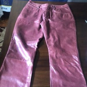 Wilson's leather bootcut pants with pockets